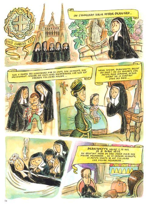 Bernadette & Lourdes, l'enquête, bd chez Artège Editions de Bertorello, Guillemois