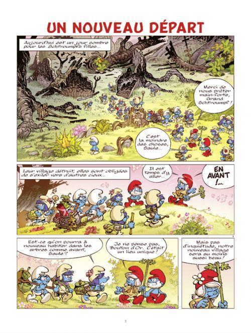 Les Schtroumpfs et le Village des Filles T4 : Un nouveau départ (0), bd chez Le Lombard de Parthoens, Culliford, Cagniat, Maddaleni