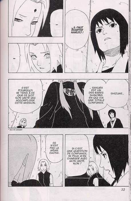 Naruto T32, manga chez Kana de Kishimoto