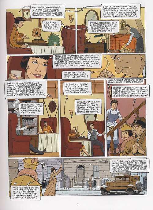 Harry Dickson T9 : La marque de raspoutine (0), bd chez Soleil de Nolane, Roman, Huet