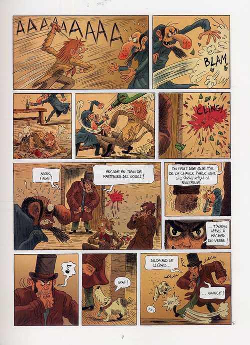 Oliver Twist T2, bd chez Delcourt de Dauvillier, Deloye, Merlet, Rouger