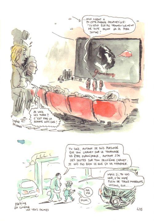 Journal d'un tournage, bd chez Delcourt de Sapin