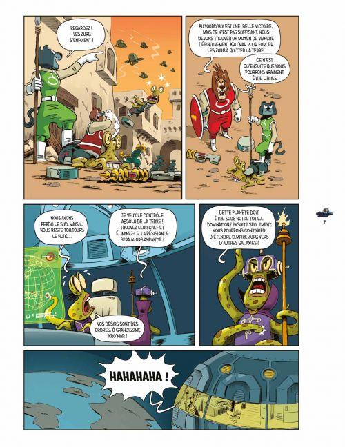 Le Lion & la souris vs. les envahisseurs de Zurg, bd chez Les aventuriers de l'Etrange de Harper, Rodriguez