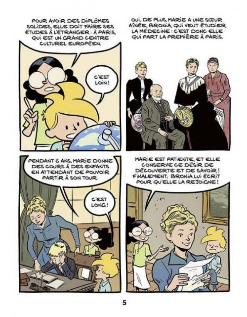 Le Fil de l'Histoire T19 : Marie Curie (0), bd chez Dupuis de Erre, Savoia