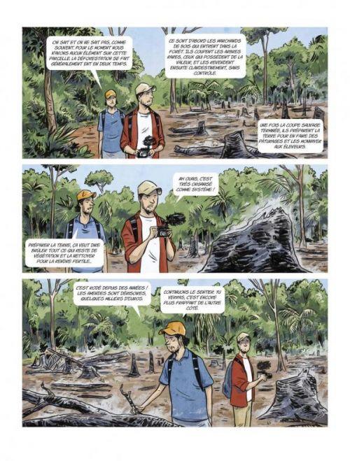 L'Aventure Géopolitique T1 : La Déforestation (0), bd chez Soleil de Mistergeopolitix, Danjou, Martin