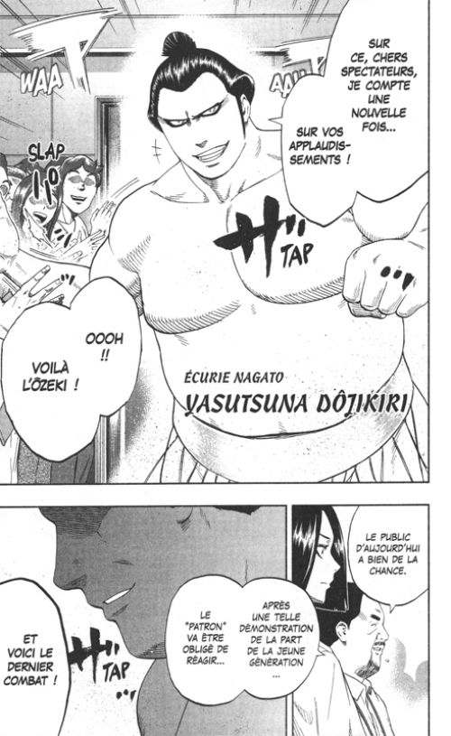 Hinomaru sumo T21, manga chez Glénat de Kawada