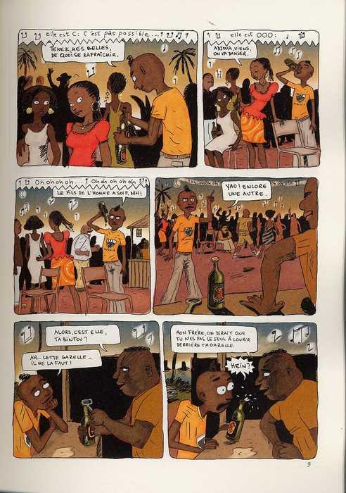 Aya de Yopougon T1, bd chez Gallimard de Abouet, Oubrerie