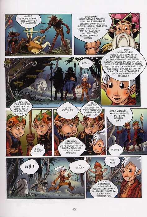 Arthur et les minimoys T2 : D'autres aventures d'Arthur (0), bd chez Soleil de Weber, Meddour, Mari