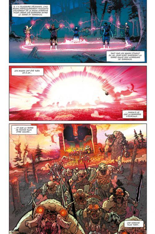 Birthright T9 : La guerre des mondes (0), comics chez Delcourt de Williamson, Bressan, Lucas