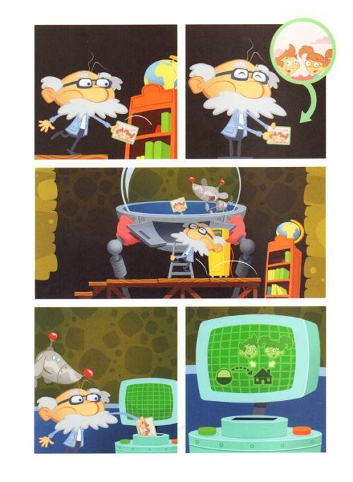 Papi génial : Le Gros robot de l'espace pas gentil du tout (0), bd chez Kennes éditions de Emeriau