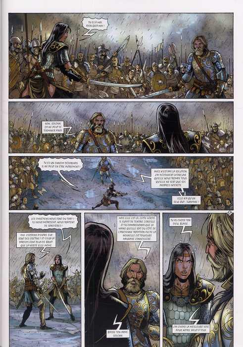 Merlin – cycle 1 : Cycle initiatique, T9 : Le secret du codex (0), bd chez Soleil de Istin, Lambert, Stambecco