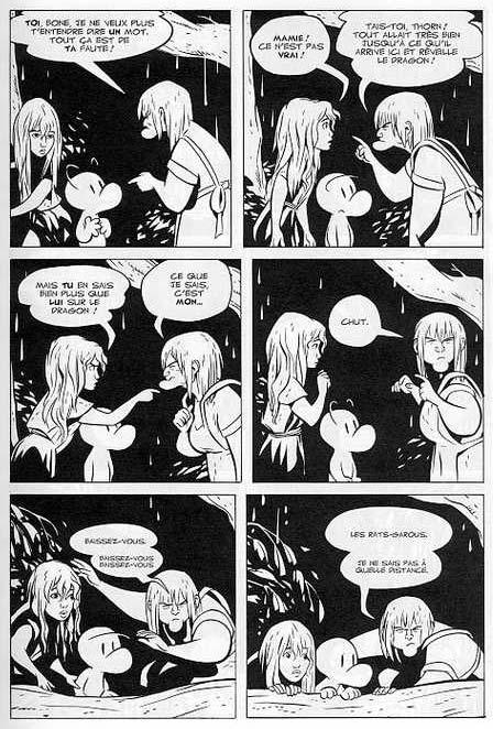 Bone – Edition couleur, T4 : Le pourfendeur de dragons (0), comics chez Delcourt de Smith, Hamaker