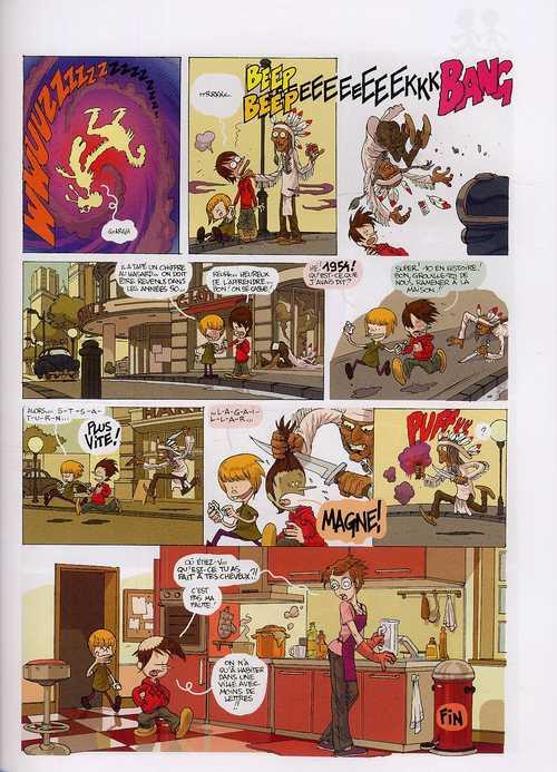 Chrono kids T1, bd chez Glénat de Zep, Vince, Stan