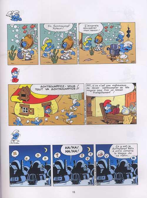 Les blagues de Schtroumpfs T2 : 120 blagues et autres surprises (0), bd chez Le Lombard de Peyo
