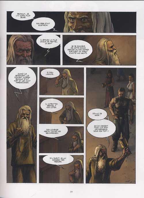 Beowulf T1 : Premier combat - Grendel (0), bd chez Delcourt de Dufranne, Javier N.B., Wang, Studio 9