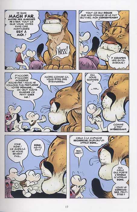 Bone – Edition couleur, T5 : Le seigneur des marches de l'est (0), comics chez Delcourt de Smith, Hamaker