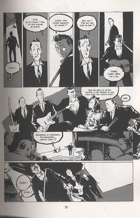 Johnny Cash, bd chez Dargaud de Kleist