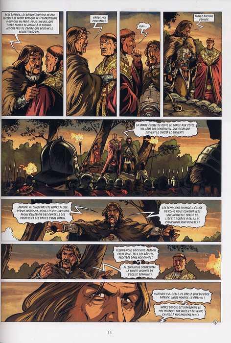 Merlin – cycle 1 : Cycle initiatique, T8 : L'aube des armes (0), bd chez Soleil de Istin, Lambert, Stambecco
