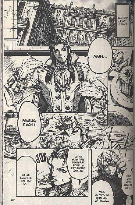 Le chevalier d'Eon T3, manga chez Asuka de Kiriko, Ubukata
