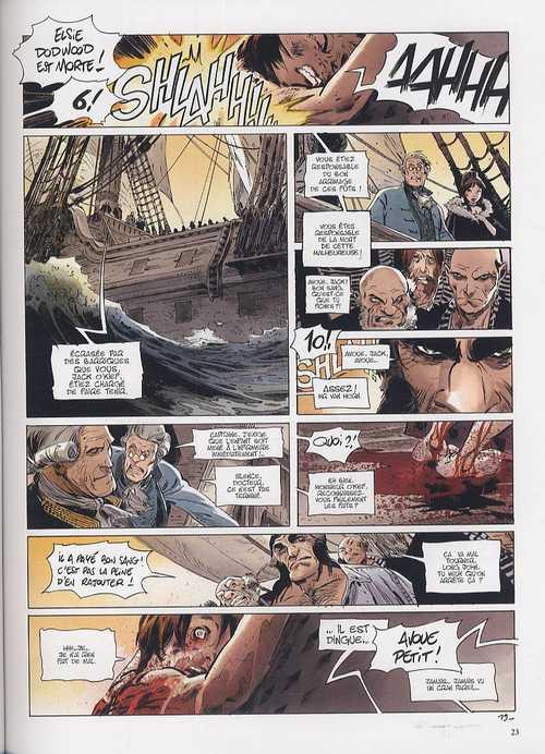 Long John Silver T2 : Neptune (0), bd chez Dargaud de Lauffray, Dorison