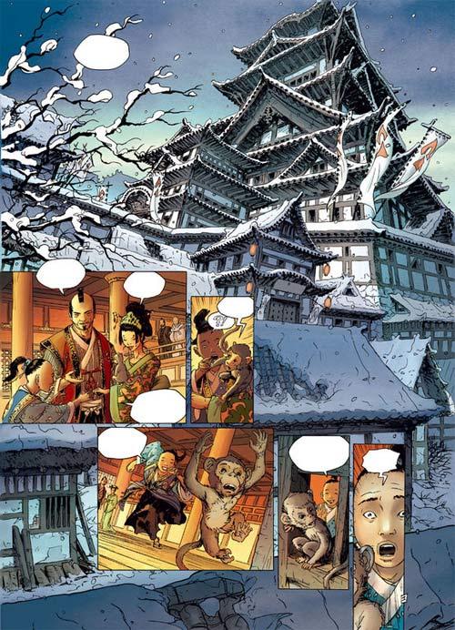 Samurai – cycle 1, T4 : Le Rituel de Morigana (0), bd chez Soleil de Di Giorgio, Genet