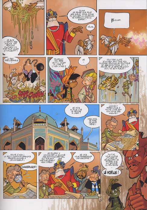 Tandori fakir du Bengale T3 : Un Livre dans la jungle (0), bd chez Soleil de Arleston, Ridel