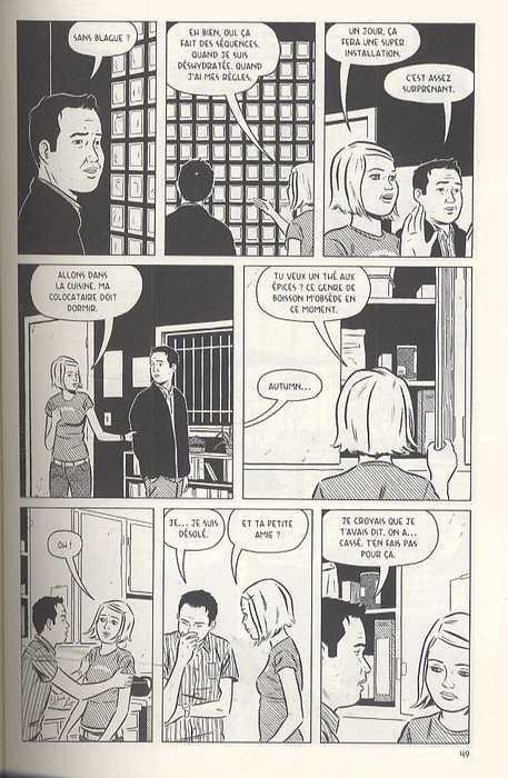 Loin d'être parfait, comics chez Delcourt de Tomine