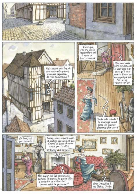 Le jeu de l'amour et du hasard, bd chez Delcourt de Humbert
