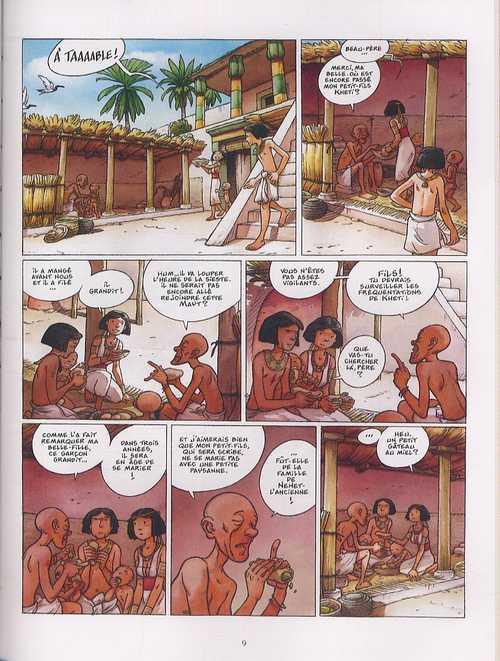 Kheti, fils du nil T3 : Mémé la momie (0), bd chez Delcourt de Dethan, Mazan