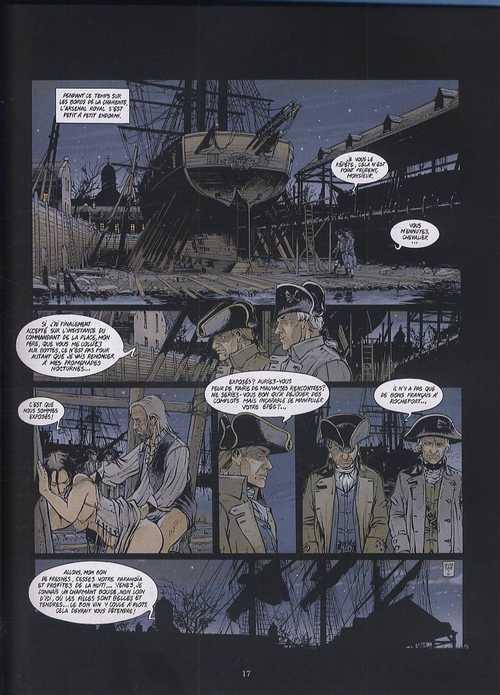 Black Crow raconte T1 : L'Hermione (0), bd chez Glénat de Delitte