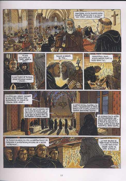 Les flammes de l'archange, bd chez Glénat de Guérin, Lacaf