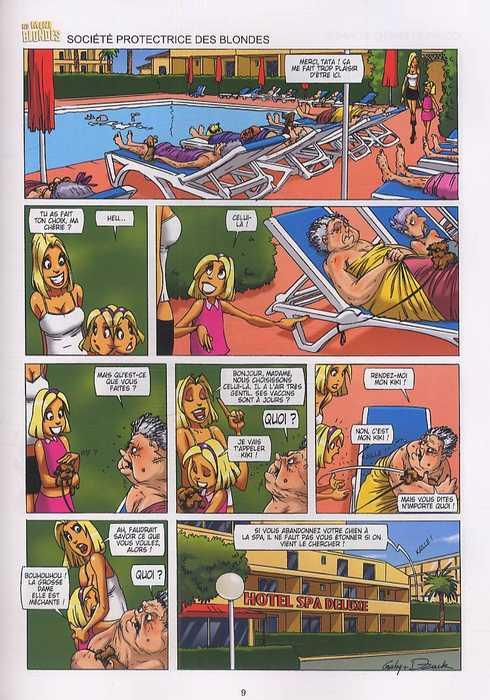 Les blondes T10 : Ça se fête ! (0), bd chez Soleil de Gaby, Dzack, Guillo