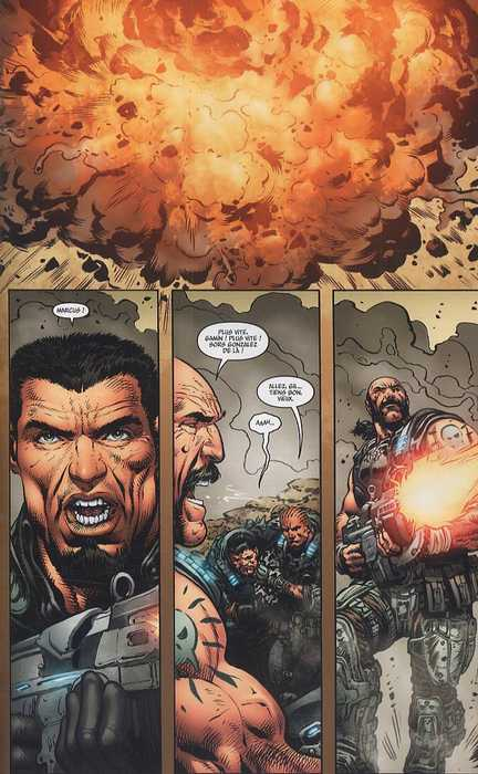 Gears of war T1, comics chez Fusion Comics de Ortega, Sharp, Rench