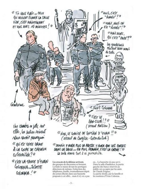 Le procès Colonna, bd chez Glénat de Paganelli, Tignous