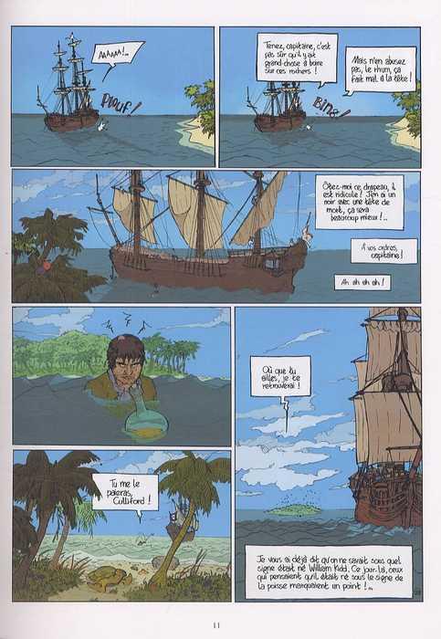 Histoire des plus fameux pirates, de Defoe T1 : Capitaine Kidd (0), bd chez Delcourt de Brrémaud, Lematou, Galopin