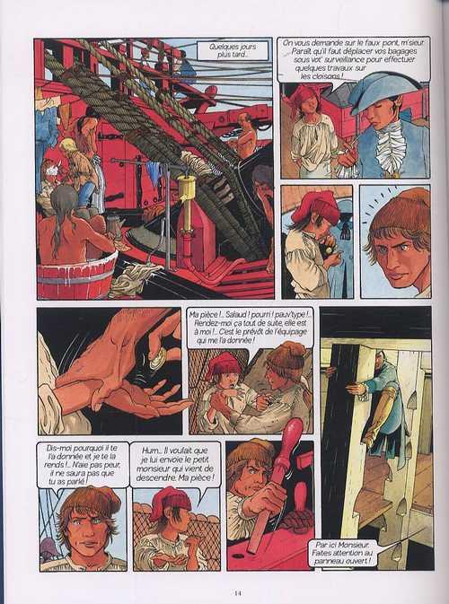 Les passagers du vent T1 : La fille sous la Dunette (0), bd chez 12 bis de Bourgeon