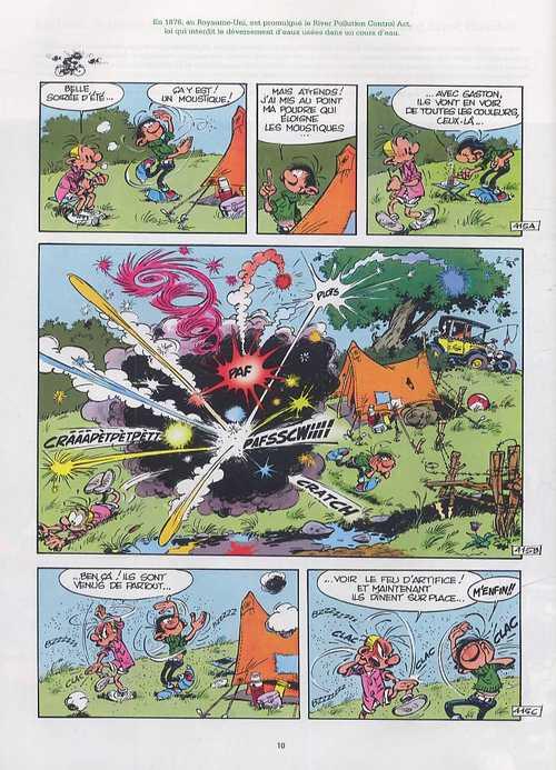 Gaston : L'écologie selon gaston (0), bd chez Marsu Productions de Franquin
