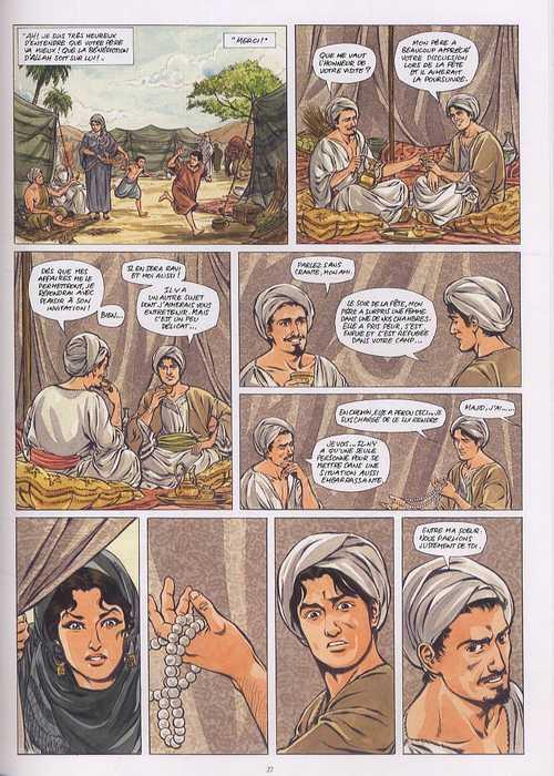 Awrah T1 : La rose des sables (0), bd chez Daniel Maghen de Simon, Erkol, Koehler, Raives