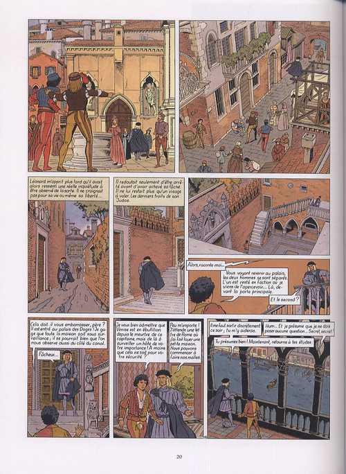 Vinci T2 : Ombre et lumière (0), bd chez Glénat de Convard, Chaillet, Defachelle