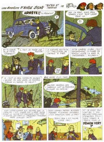Ange Signe T1 : La grotte au démon vert (0), bd chez Editions de l'Elan de Tillieux