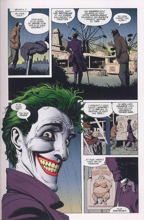 Batman - The Killing Joke, comics chez Panini Comics de Moore, Bolland