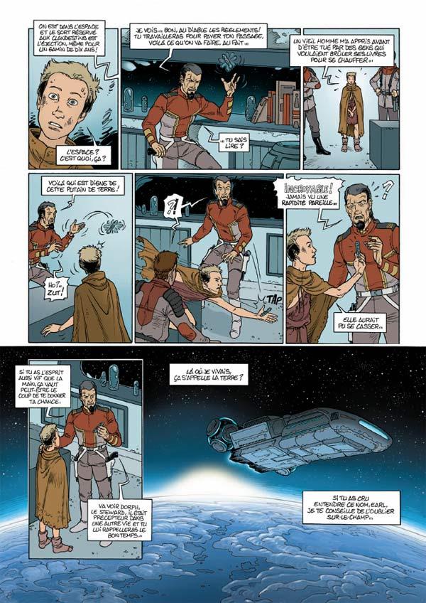Dumarest, l'aventurier des étoiles T1 : Les vents de Gath (0), bd chez Soleil de Nolane, Millien, Carré