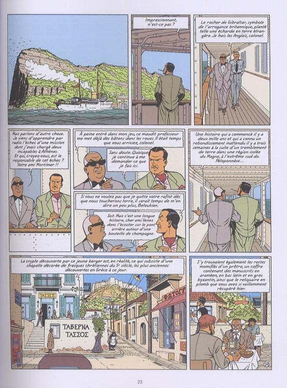 Blake & Mortimer T19 : La malédiction des trente deniers (0), bd chez Blake et Mortimer de Van Hamme, de Spiegeleer, Sterne, Croix
