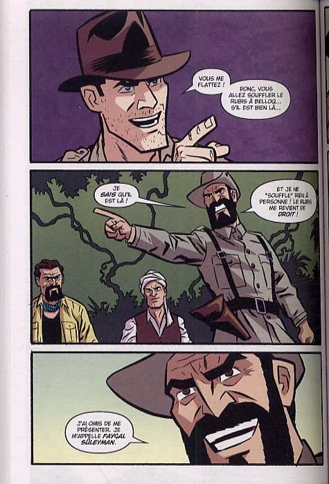 Indiana Jones Aventures T2, comics chez Delcourt de Beavers, Pattison