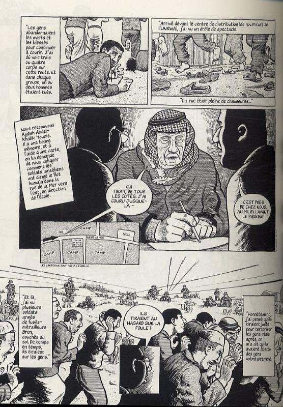 Gaza 1956, comics chez Futuropolis de Sacco