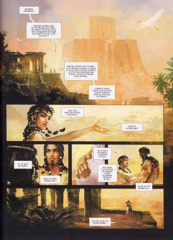 L'epopée de Gilgamesh T1 : Le Trône d'Uruk (0), bd chez Soleil de Blondel, Brion