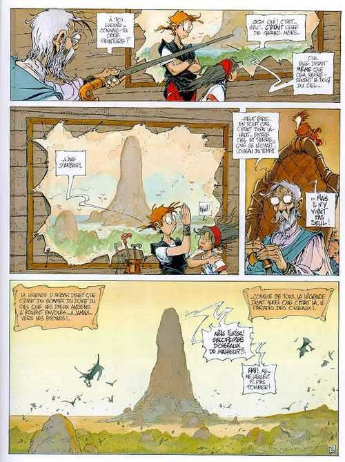 La quête de l'oiseau du temps – cycle 1 : La quête, T4 : L'oeuf des Ténèbres  (0), bd chez Dargaud de Le Tendre, Loisel