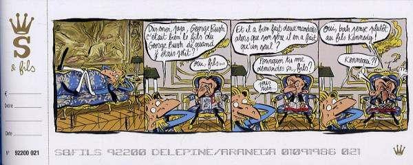 S et fils, bd chez Dargaud de Delépine, Aranega
