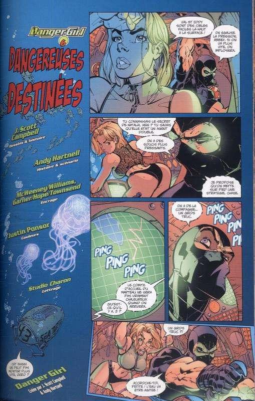Danger girl T2, comics chez Soleil de Hartnell, Campbell, Chiodo, Major, Dimagmaliw, Ponsor, Jimenez, Baron, Garner