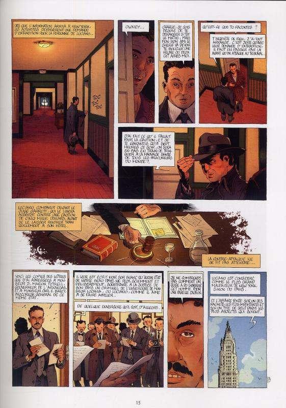 Mafia Story T6 : La chute de Lucky Luciano (0), bd chez Delcourt de Chauvel, Le Saëc, Lou